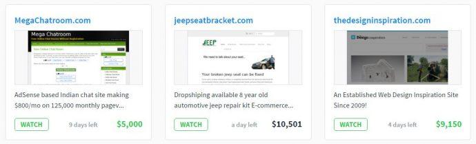 Flippa, un site pour gagner de l'argent en vendant des sites internet