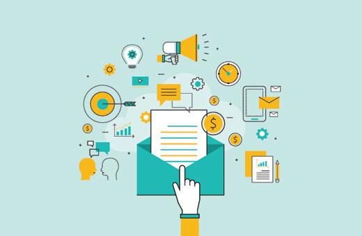 Graphique e-mails rémunérés