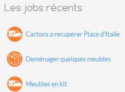 Les jobs disponibles sur le site Needelp