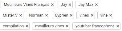 Exemple de tags YouTube