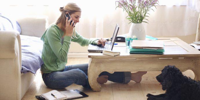 Travailler chez soi sur internet