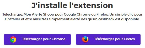 Extension Shoop pour Chrome et Firefox